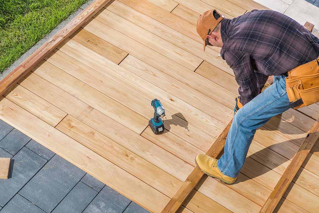 Wood decking work