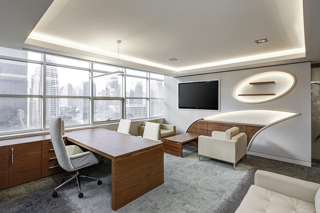 clean office interior