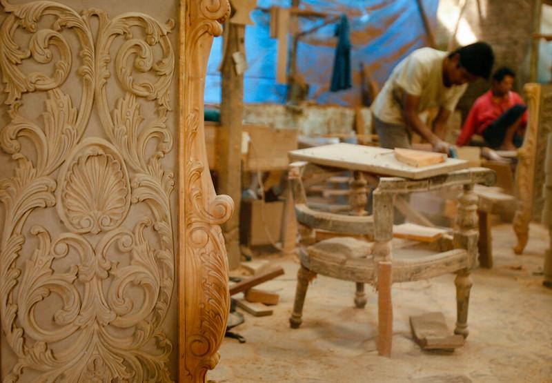 Teak Furniture making